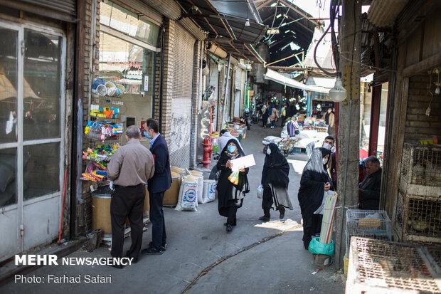 بازار قزوین در روزهای کرونایی