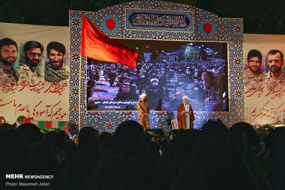 مراسم وداع شهداء مازندران المدافعين عن الحرم / صور