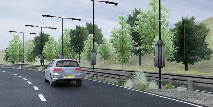 جریان هوای جاده به برق تبدیل می شود!