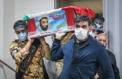 پیکر مطهر شهید سلمانیان در کرج تشییع شد