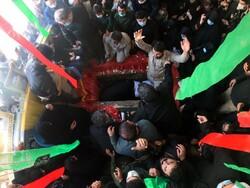 مراسم تشییع و خاکسپاری شهید محمد بلباسی در قائمشهر