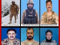 وہابی دہشت گردوں کے حملے میں پاکستانی فوج کے 6 اہلکار جاں بحق