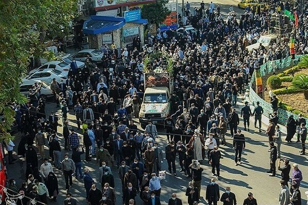 تشييع جثامين 5 شهداء ايرانيين استشهدوا في سوريا