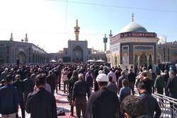 حرم رضوی میں نماز ظہر باجماعت ادا کی گئی