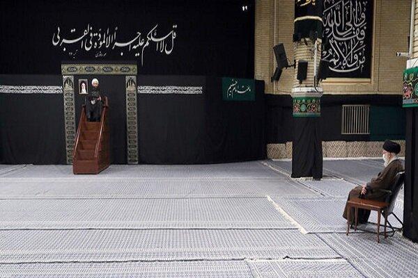 Leader attends mourning ceremony of Prophet Muhammad (PBUH)