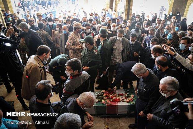 مراسم تشییع و تدفین شهید« مسعود منتجبی » در زنجان