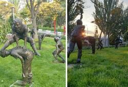 سرقت مجسمه های کودکان از پارک صدف تبریز
