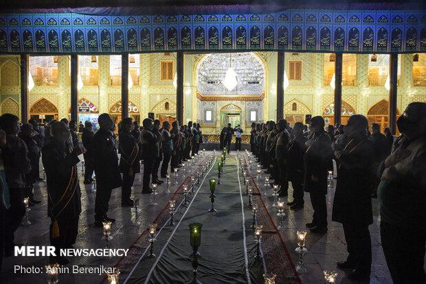 لاله گردانی شب شام غریبان شهادت امام رضا(ع) در شیراز