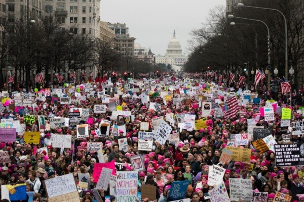 دومین راهپیمایی اعتراضی جنبش زنان آمریکا علیه سیاستهای ترامپ