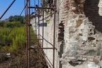 مرمت و بازسازی دیوار کاخ تاریخی جهان نمای فرح آباد ساری