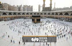 Mekke'deki hac menasikinden görüntüler