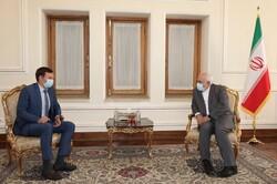 رئيس فريق التفاوض الأوكراني يلتقي ظريف