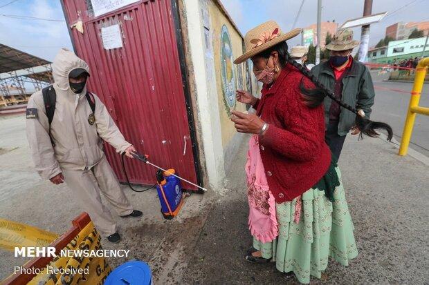آغاز انتخابات ریاست جمهوری بولیوی در بحبوحه کرونا