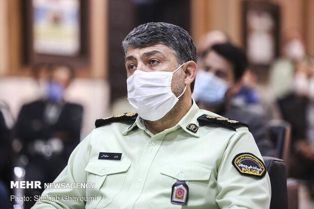 حضور سرهنگ جلیل موقوفه ای رئیس پلیس پیشگیری پایتخت درتجلیل مدافعان سلامت از مدافعان امنیت