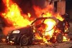 Münbiç'te bomba yüklü araç patladı