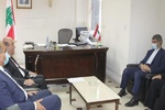 دیدار سفیر ایران در بیروت با وزیر خارجه دولت پیشبرد امور لبنان