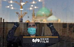 Kutsal kent Meşhed'de korona önlemleri gölgesinde türbe ziyareti yapılıyor