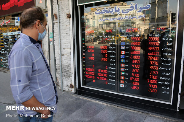 Foreign exchange rates on negative track