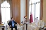 امیر قطر و وزیر خزانهداری آمریکا دیدار کردند