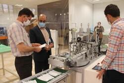 خط تولید ماسک تمام اتوماتیک در دانشگاه آزاد شاهرود افتتاح شد
