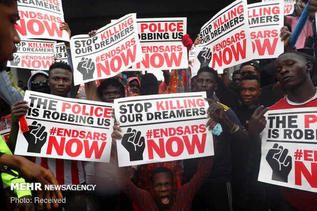 اعتراض به خشونت پلیس در نیجریه