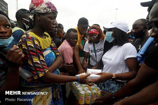 Nijerya'da polis şiddetine karşı protesto