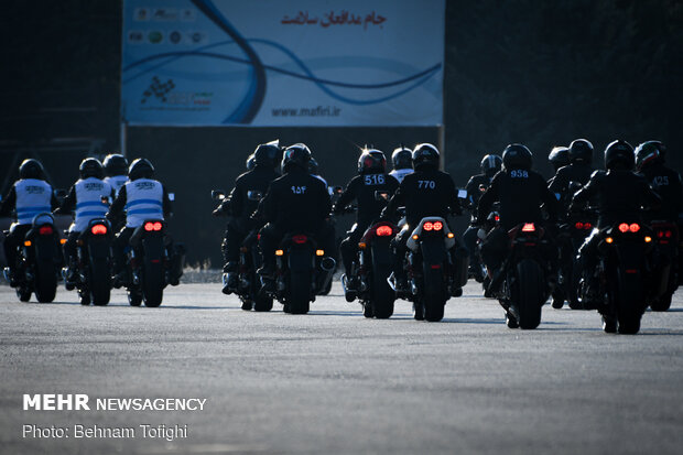 Motorcycle racing on occasion on Police Week