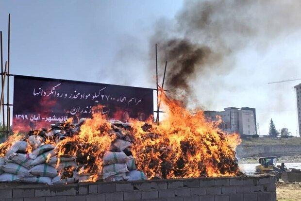 قوى الأمن الداخلي تضبط 87 طنا و 200 كيلوغرام من انواع المخدرات في جنوب شرق إيران