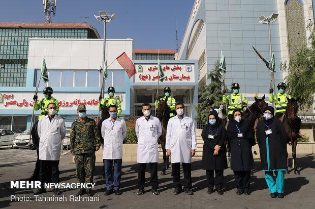 رژه یگان «اسب سوار ناجا» در خیابان ولیعصر تهران