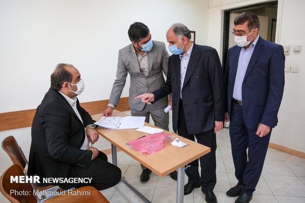 بازدید امین حسین رحیمی معاون منابع انسانی قوه قضاییه از برگزاری آزمون تصدی منصب قضا