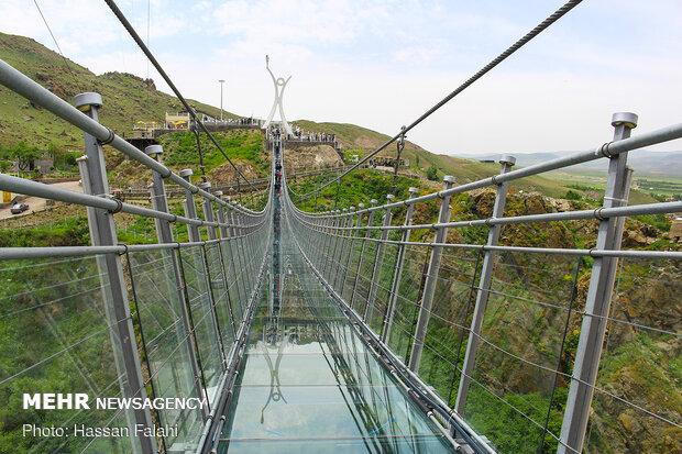 طولانی ترین پل معلق شیشه ای خاورمیانه - اردبیل