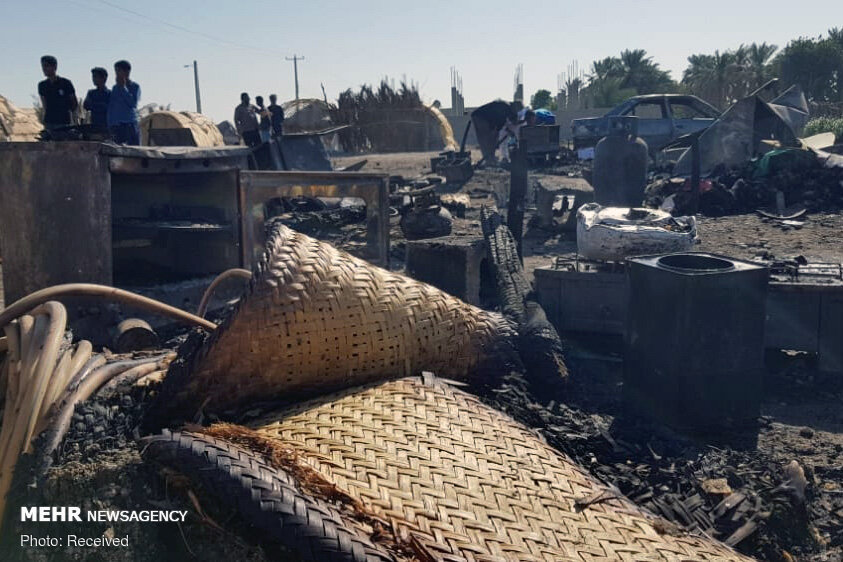 آتش چهار منزل کپری را در هشتبندی خاکستر کرد