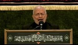 مراسم عزاداری امام حسن عسکری(ع) در حرم رضوی