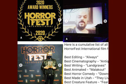 'Malakout' wins at US' Horror Film Festival