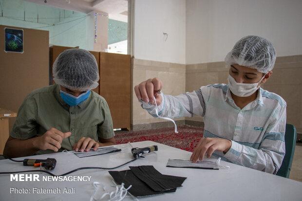 بچه های مسجد در مسیر مبارزه با کرونا