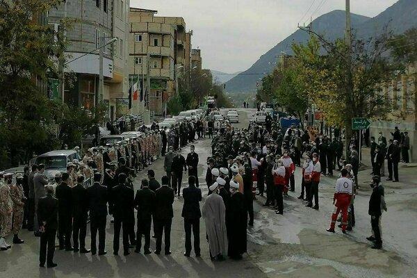 تشییع پیکر شهید مدافع امنیت در کلیبر