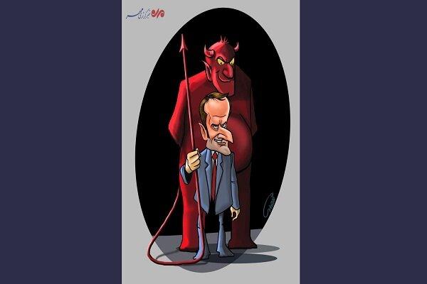 کاریکاتور ماکرون