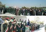تشییع و خاکسپاری پیکر شهید مدافع امنیت در وادی رحمت تبریز