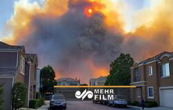 کیلیفورنیا میں لگی آگ شہری آبادی تک پہنچ گئی
