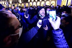 اعتراض به محدودیتهای کرونایی در ایتالیا