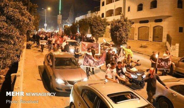 تجمع اعتراضی فلسطینی ها به گستاخی اخیر ماکرون