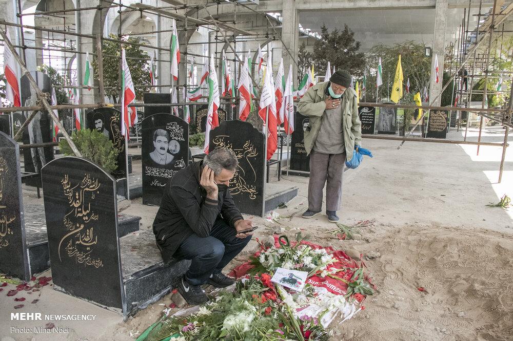 مراسم تشییع و خاکسپاری پیکر شهید مدافع امنیت خلیل رونده در تبریز
