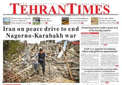 Front pages of Iran's English-language dailies on Oct. 28
