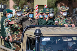رونمایی از ادوات و تجهیزات بازتولید شده نیروی زمینی ارتش