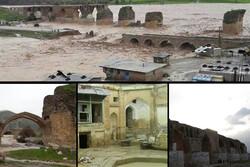 زخم سیل ۹۸ بر تن بناهای هزار ساله/ مرمت کامل آثار چشم انتظار مصوبه دولت است
