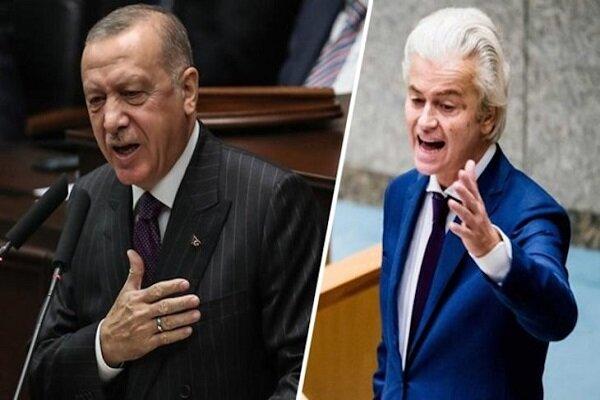 رهبر حزب آزادی هلند به جنگ «اردوغان» رفت