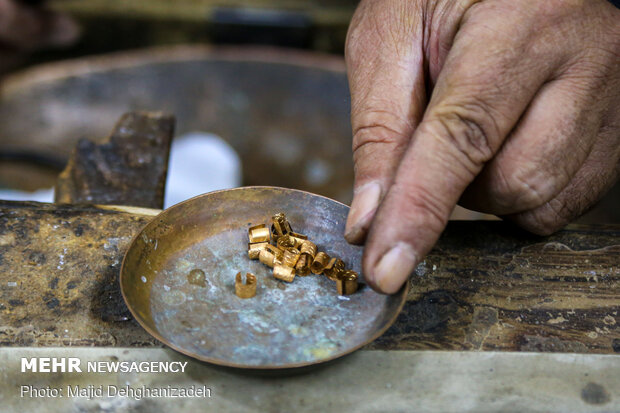 Traditional goldsmithing in Yazd