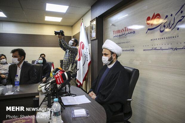 مؤتمر صحفي بحضور الشيخ أكرم الكعبي في وكالة مهر للانباء