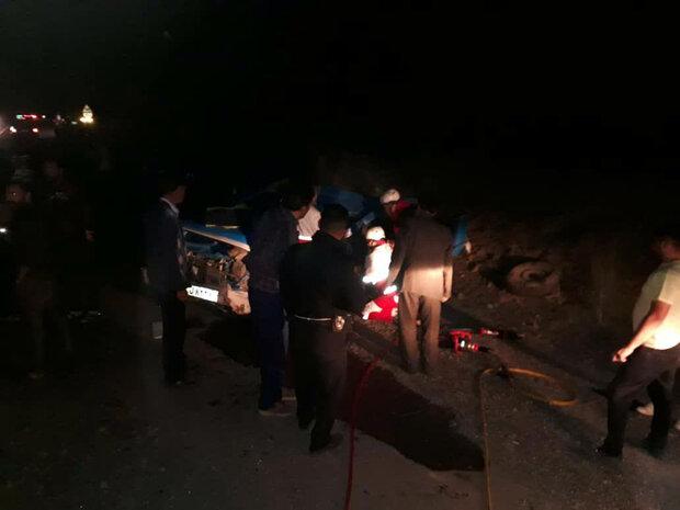 تصادف در زنجان ۲ فوتی بر جای گذاشت
