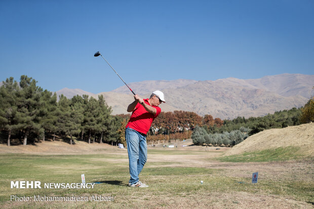 İran'daki golf yarışmadan kareler